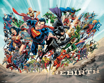 Plagát DC Universe - Rebirth