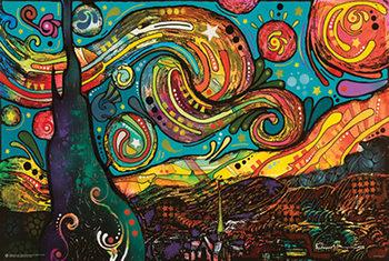 Plagát Dean Russo - Starry Night Pop Art