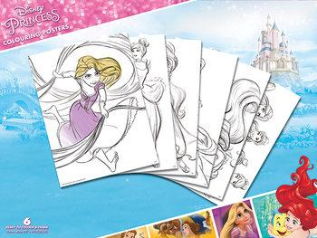 Plagát omaľovánka Disney - Princess