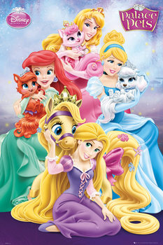 Plagát Disney Princess Palace Pets - Group