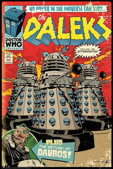 Plagát Doctor Who - Red Dalek Comic