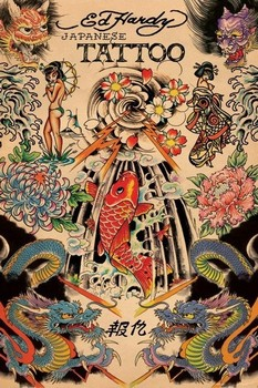 Plagát Ed Hardy - japanese tattoo
