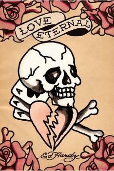 Plagát Ed Hardy - love eternal