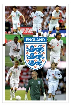 Plagát England - 8 players montage