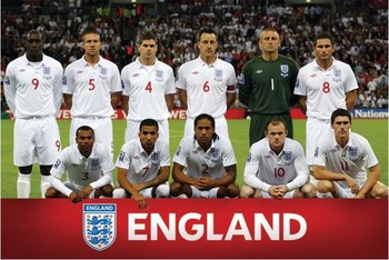 Plagát England - Team shot