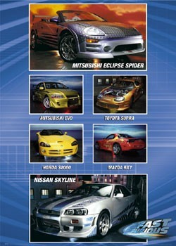 Plagát Fast and Furious – auta