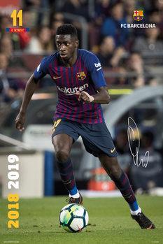 Plagát FC Barcelona 2018/2019 - Dembele