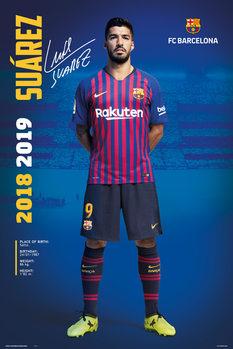 Plagát FC Barcelona 2018/2019 - Luis Suarez