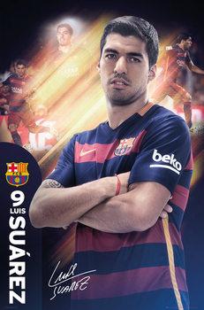 Plagát FC Barcelona - Suarez 15/16