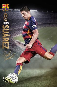 Plagát FC Barcelona - Suarez Action 15/16