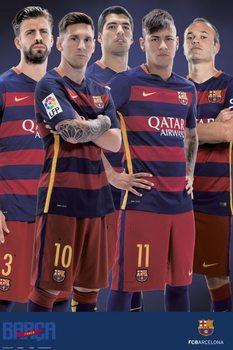 Plagát FC Barcelona - Varios jugadores 2015/2016
