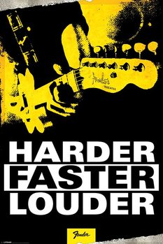 Plagát Fender - Harder, Faster, Louder
