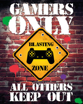 Plagát Gamers Only - Controller Keep Out