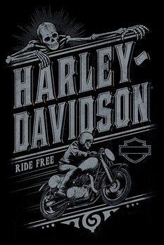 Plagát Harley Davidson - Ride Free