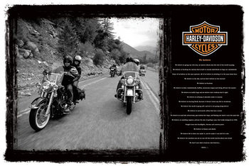 Plagát Harley Davidson - we believe