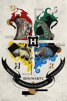 Plagát Harry Potter - Animal Crest