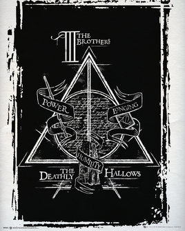 Plagát Harry Potter - Deathly Hallows Graphic