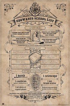 Plagát Harry Potter - Hogwarts School List