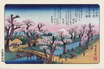 Plagát Hiroshige - Mount Fuji Koganei Bridge