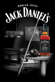 Plagát Jack Daniel's - pool room