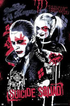 Plagát Jednotka samovrahov - Joker and Harley Quinn