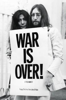 Plagát John Lennon - war is over