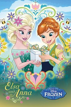 Plagát Ľadové kráľovstvo - Anna & Elsa Frame