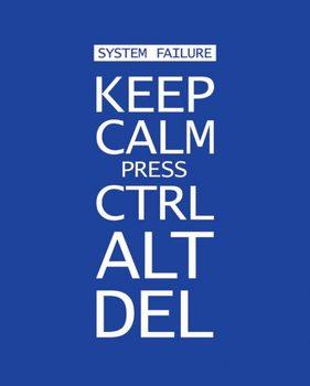 Plagát Keep calm press ctrl alt delete