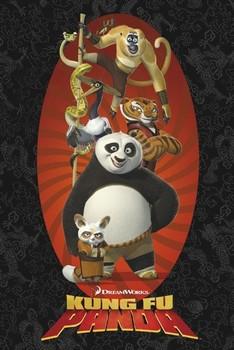 Plagát KUNG FU PANDA - characters