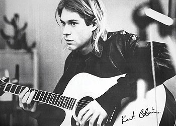 Plagát Kurt Cobain - guitar b&w PY