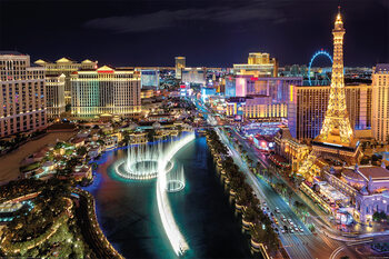 Plagát Las Vegas - Aerial View