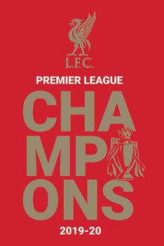 Plagát Liverpool FC - Champions 2019/20 Logo
