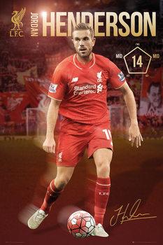 Plagát Liverpool FC - Henderson 15/16