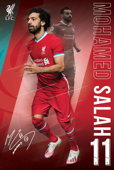 Plagát Liverpool FC - Salah 20/2021 Season