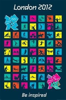 Plagát Londýn 2012 olympics - pictograms