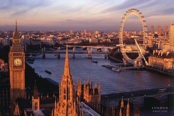 Plagát Londýn - England