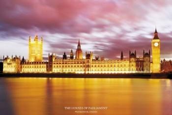 Plagát Londýn - houses of parliament