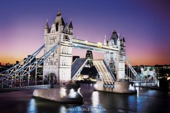 Plagát Londýn - tower bridge