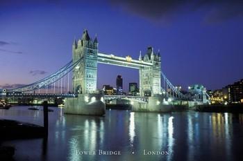 Plagát Londýn - tower bridge II.