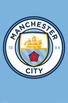 Plagát Manchester City - Crest 15/16