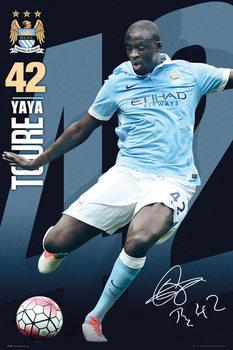 Plagát Manchester City FC - Toure 15/16