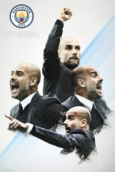 Plagát Manchester City - Guardiola 16/17