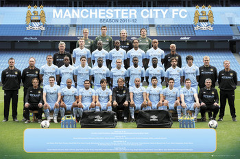 Plagát Manchester City - Team 11/12
