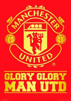 Plagát Manchester United FC - Crest