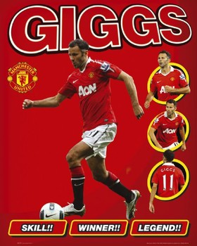 Plagát Manchester United - giggs