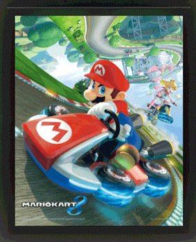 Mario Kart 8 - 3D plagát s rámom