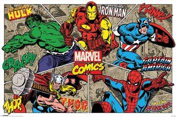 Plagát Marvel Comics - Character Burst