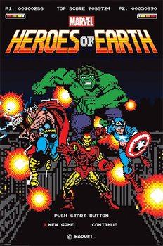 Plagát Marvel Retro - 8-Bit