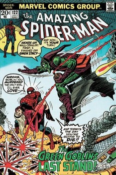 Plagát MARVEL RETRO - spider-man vs. green goblin