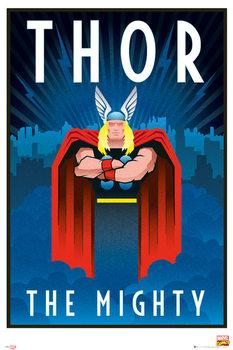 Plagát Marvel - Retro Thor